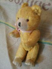 10 inch teddy, straw stuffed