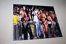NWO MEMBERS KEVIN NASH, SCOTT HALL, XPAC SIGNED 8X10 PHOTO W/HOGAN WWE/WWF/WCW