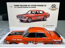 1:18 Ford Falcon XY GTHO Phase 3 1971 Surfers 250 Winner Moffat #60E COA AUTOart
