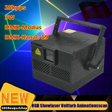 3W RGB Showlaser Vollfarb Animationsscan Laser 25KPPS ILDA DMX AUTO Sound DJ Bar