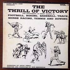 The Thrill Of Victory Vol. 1 three LP box set (Cabot classic sports broadcasts)