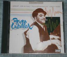 Fats Waller - Great Original Performances 1927-1934 (1996) CD ALBUM