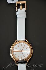Genuine Leather Band Women's Polished 30 m (3 ATM) Watches
