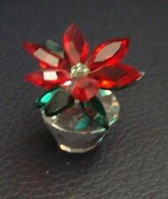 Crystal World Poinsettia Figurine Preowned - Mint