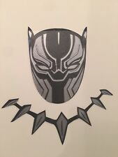 Silver Black Panther Wakanda Mask T'Challa Necklace School Wall Decal Sticker