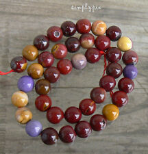 10mm Round Moukaite Jasper Gemstone Beads Strand 41b New Arrivals