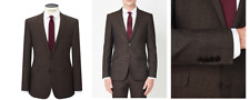 Kin by John Lewis Lincoln Textured Weave Suit Jacket, Brown Size 36R £119 BNWT