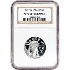 1997 W American Platinum Eagle Proof 1/2 oz $50 - Ngc Pf70 Ucam