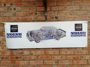 Volvo 240 in sports large pvc WORK SHOP BANNER garage SHOW banner