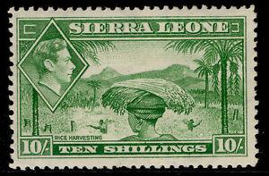 SIERRA LEONE GVI SG199, 10s emerald-green, M MINT. Cat £38.
