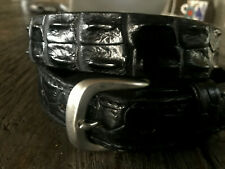 Hornback Saltwater Crocodile Belt Black Mens NEW 33 to 36