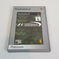 F1 FORMULA ONE 2001 (Platinum) PS2 Playstation 2 Video Game PAL - Complete