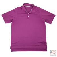 Adidas Golf Mens XL Short Sleeve Polyester Climalite Polo Shirt Regular Purple