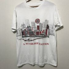 Vintage 80s Iron City Beer Pittsburgh T-shirt XL double sided paper thin USA