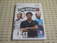 Top spin 3 pour nintendo wii et wii u * OVP *