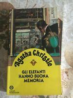 Agatha Christie Gli elefanti hanno buona memo - Oscar Mondadori 1^ edizione 1987