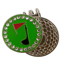 Golf ball marker with magnetic hat clip : Bling Golf Club