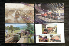 bu044 - 4 art postcards of Railway - Steam Trains - Mint Condition