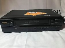 Symphonic 6480 VCR VHS HQ Tape Player Recorder TESTED !! FREE SHIP