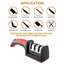 Knife Sharpener 3 Stage Steel Diamond Ceramic Coated Kitchen Sharpening Tool US