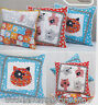 PATTERN - Kitty Cats - applique & pieced cushions PATTERN - Claire Turpin
