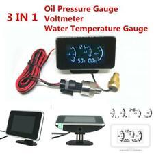 3In1 Car Truck LCD Digital Display Voltmeter/Water Temp/Oil Pressure Gauge Meter