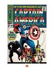 CAPTAIN AMERICA ~ 100 COVER 16x20 COMIC ART POSTER Marvel Jack Kirby Print