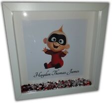 JACK JACK Personalised Diamante Box Frame - The Incredibles Print and Frame