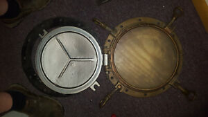 """PORTHOLE  BRONZE  4 DOG EARS 16"""" OD  STORM SHIELD PRE WAR GREAT LAKES FREIGHTER"""