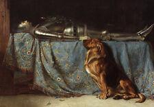 Requiescat Briton Riviere Ritter Rüstung Tod Hund Wache Tiere Treu B A3 00898
