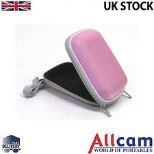 Pink Hard Carry Case for Compact Digital Cameras like Fujifilm, Nikon, Sony