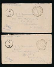 INDIA WW2 RAF POST OFFICE SOUTH EAST ASIA 1944 CENSOR + C11 OAS to BURY LANCS