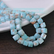 8/10mm Glass Czech Square Cube Faceted Loose Spacer Beads Jewelry Findings DIY
