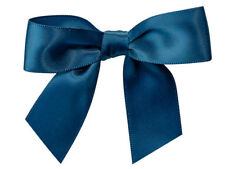 """12 Navy Blue Pre tied Satin Ribbon 3"""" Bows Twist Ties Christmas Holiday Gifts"""