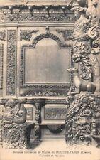 boiseries intérieures de l'église du MOUTHIER D'AHUN  - Cariatide et panneau -