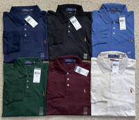 Polo Ralph Lauren Men Soft Touch Polo Shirt Long Sleeve Classic Fit L XL XXL NWT