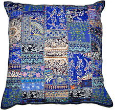24X24 Decorative Vintage Throw pillow, Indian patchwork ethnic couch boho pillow