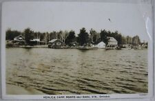 1940's Kenlea Camp Pointe-au-Baril Sta Ontario Stamps Postmark Canada RP