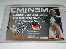 EMINEM Autograph COLOR PICTURE Concert Ticket '03 MILTON KEYNES UK Mega Rare COA