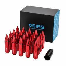 OSIAS 20pcs M12X1.5 Red RACING WHEEL 60mm LUG NUTS With Socket Key For Honda