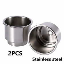 2Pcs Stainless Steel Cup Drink Bottle Holder Base For Car Marine Boat RV Camper
