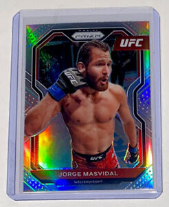 "2021 Panini Prizm UFC JORGE ""Gamebred"" MASVIDAL Parallel Silver Prizm Card #25"