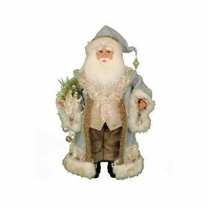 Karen Didion Originals Tiffany Blue Santa Figurine, 17 inches