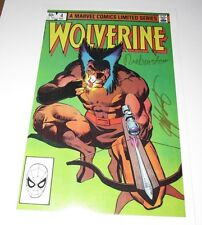 12x18 Marvel Color Print Wolverine LE #4 Hand Signed by Claremont & Rubinstein+