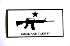 COME AND TAKE IT M4 ASSAULT RIFLE White Background VINYL BUMPER STICKER DECAL