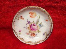 Antique Dresden Fine Porcelain Tulip & Flowers Butter Pat, p142