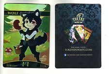 Wolf CHIBI Token FOIL | NM | ALTERED ART PROMO-TOKEN for MTG | Magic MTG