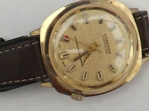 a vintage gents stainless steel cased lordson super de luxe watch