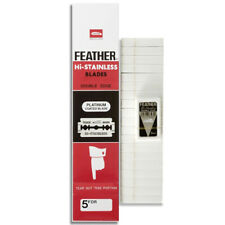 Feather Hi-Stainless Blades Double Edge 100 (20 Packets x 5 Blades) [US Seller]