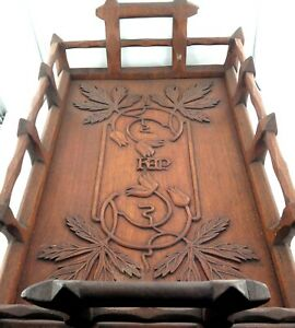 .ONE OF THE BEST ARTS & CRAFTS LARGE WOODEN TRAYS YOU WILL EVER SEE !!!